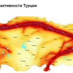 Карта сейсмоактивности Турецкой Республики