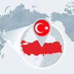 На карте Турции все больше синего цвета