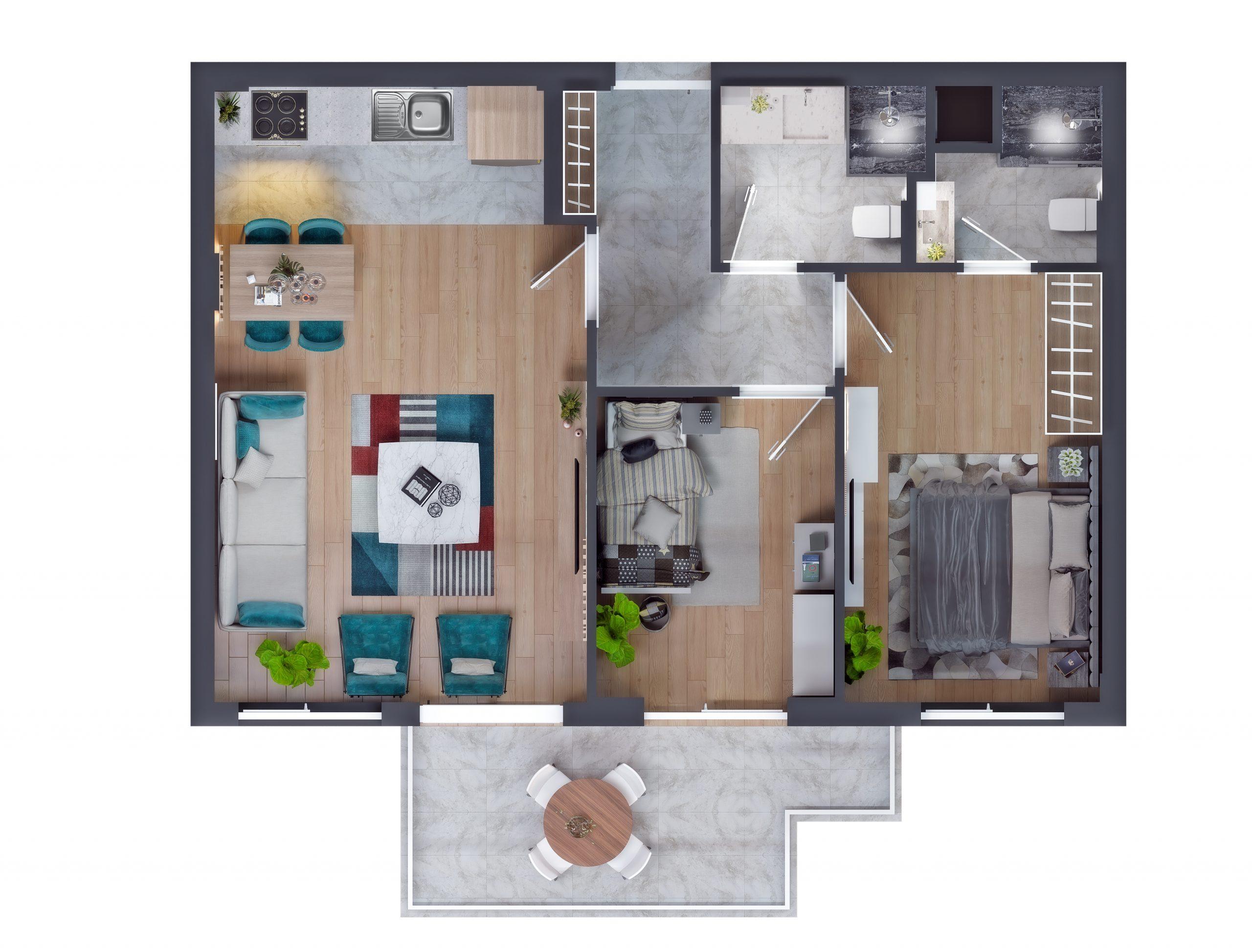 Современные квартиры в элитном комплексе Антальи - Фото 56