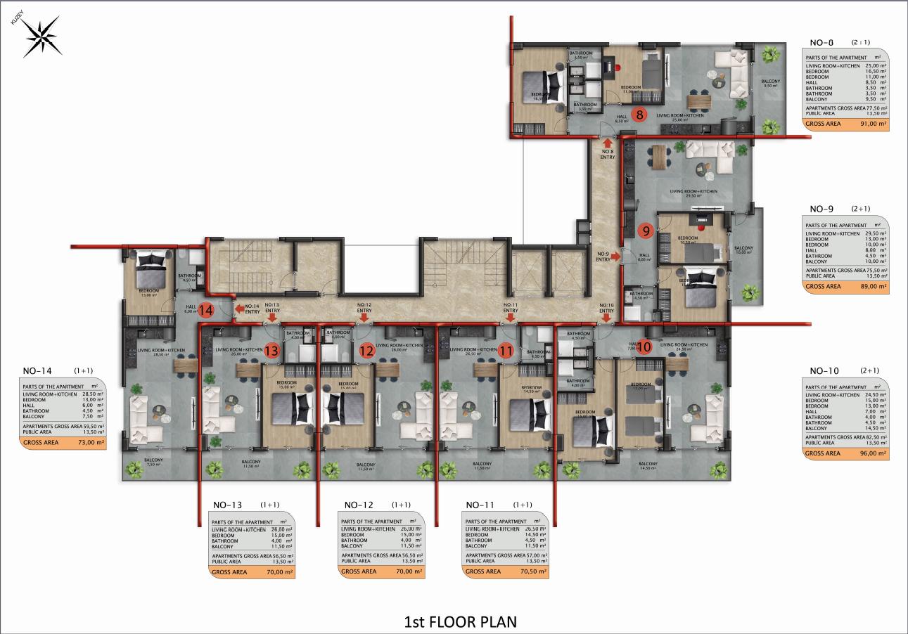 Квартиры и пентхаусы в строящемся комплексе - Фото 43