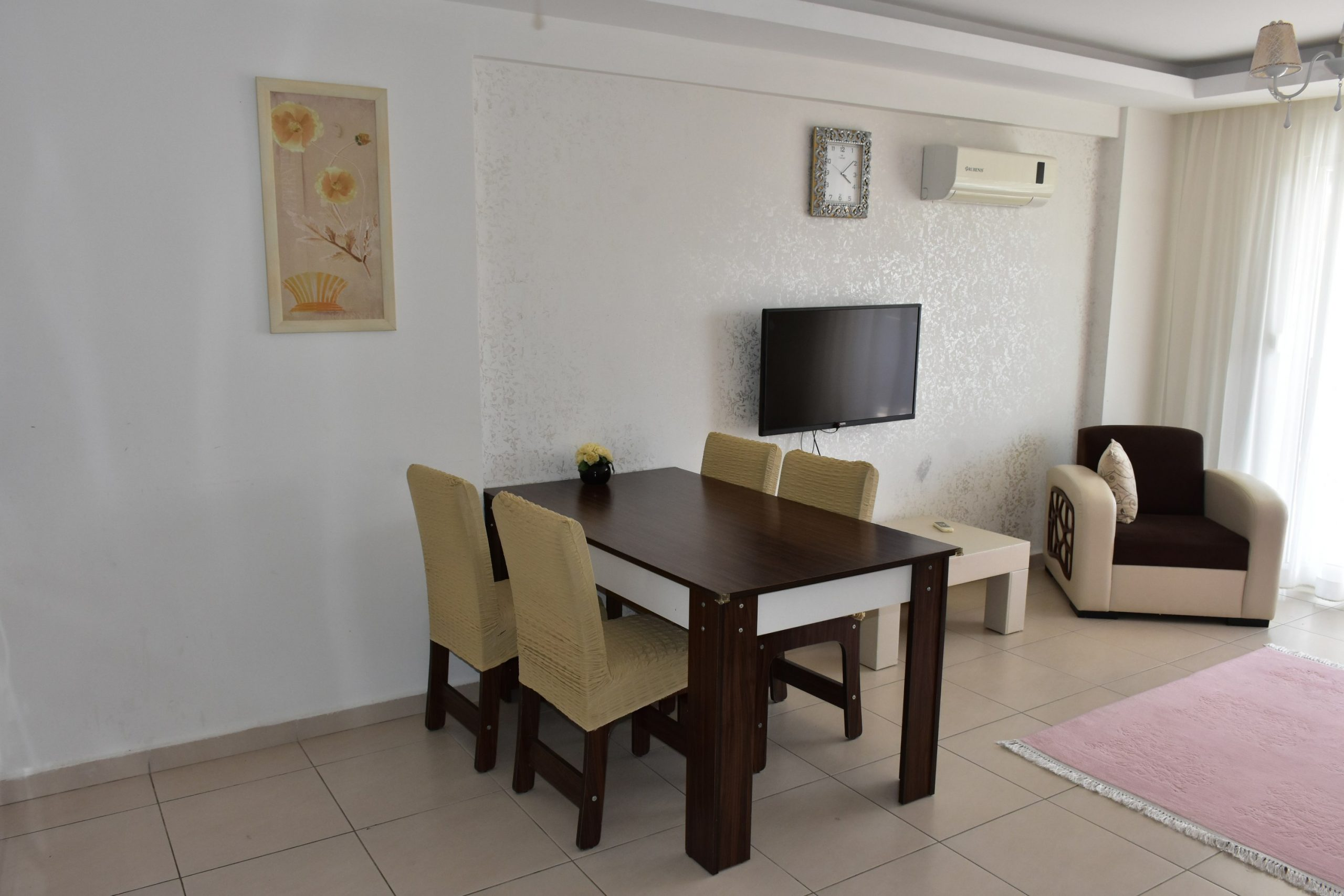 Двухкомнатная квартира с мебелью в посёлке Авсаллар - Фото 11