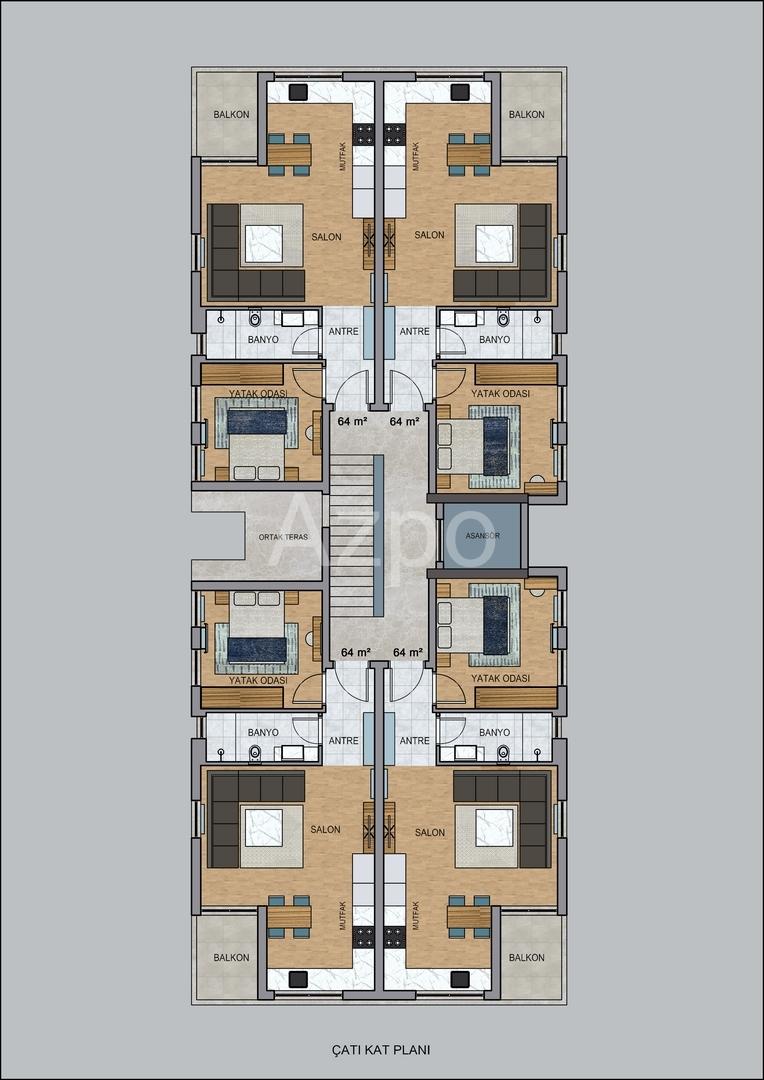 На продажу квартиры в бутик отеле в Коньяалты - Фото 23