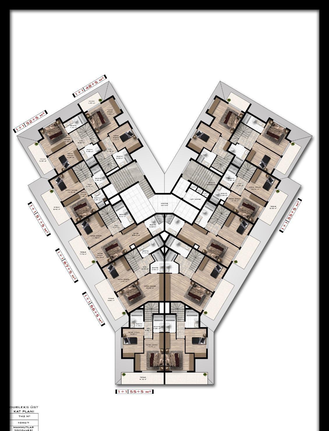 Квартиры и пентхаусы в комплексе с богатой инфраструктурой район Махмутлар - Фото 20
