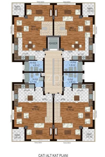 Квартиры на продажу с видом на море в Гюрсу - Фото 26