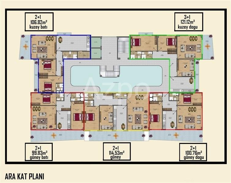 Новый жилой комплекс в Махмутларе - Фото 20