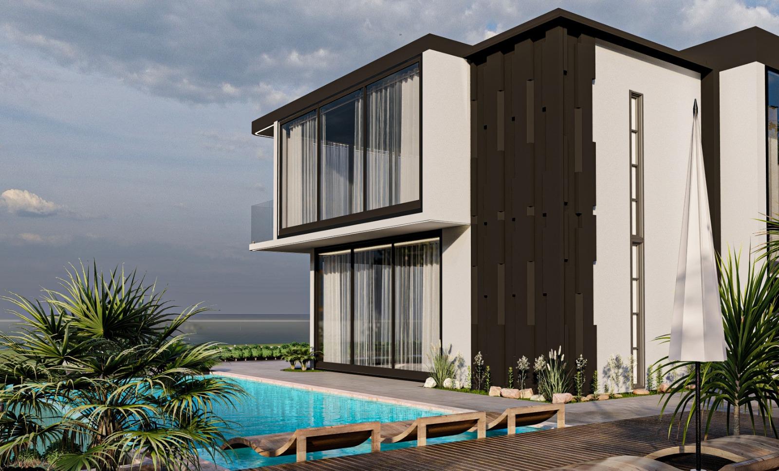 Дизайнерская вилла 5+1 с видом на Средиземное море - Фото 8