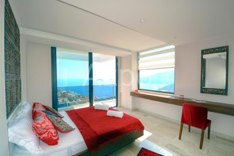 Меблированная вилла 4+1 с видом на море в городе Калкан - Фото 22