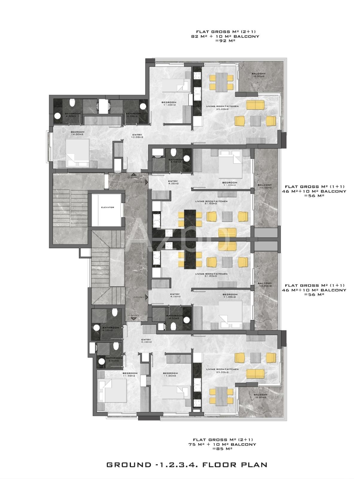 Квартиры разных планировок в новом комплексе - Фото 17