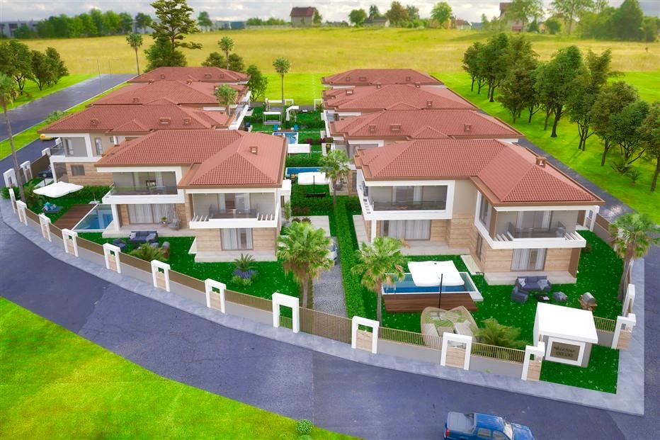 Элитные виллы 7+1 в строящемся жилом комплексе Антальи - Фото 2