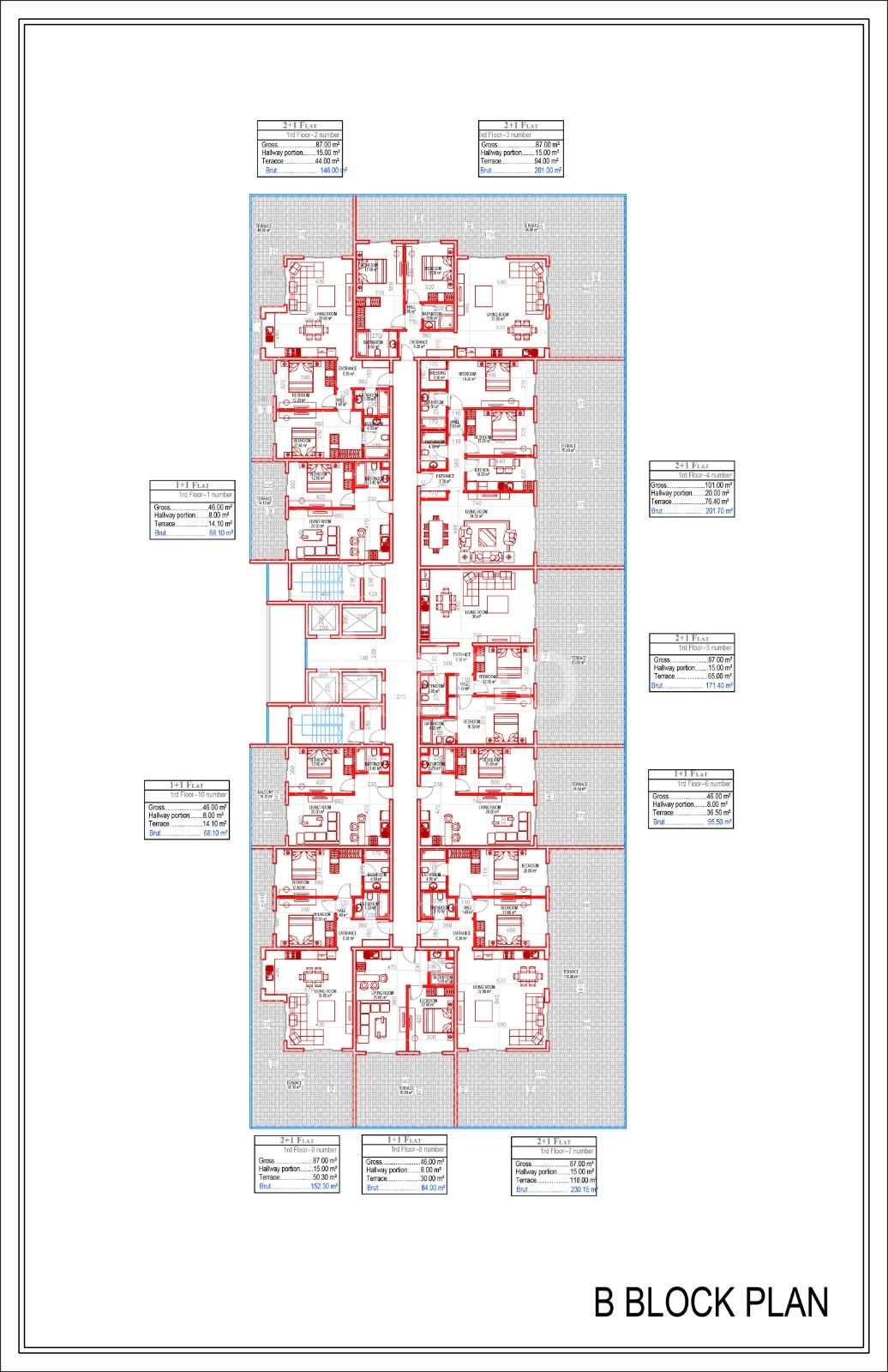 Квартиры всех типов планировок в Махмутларе - Фото 10