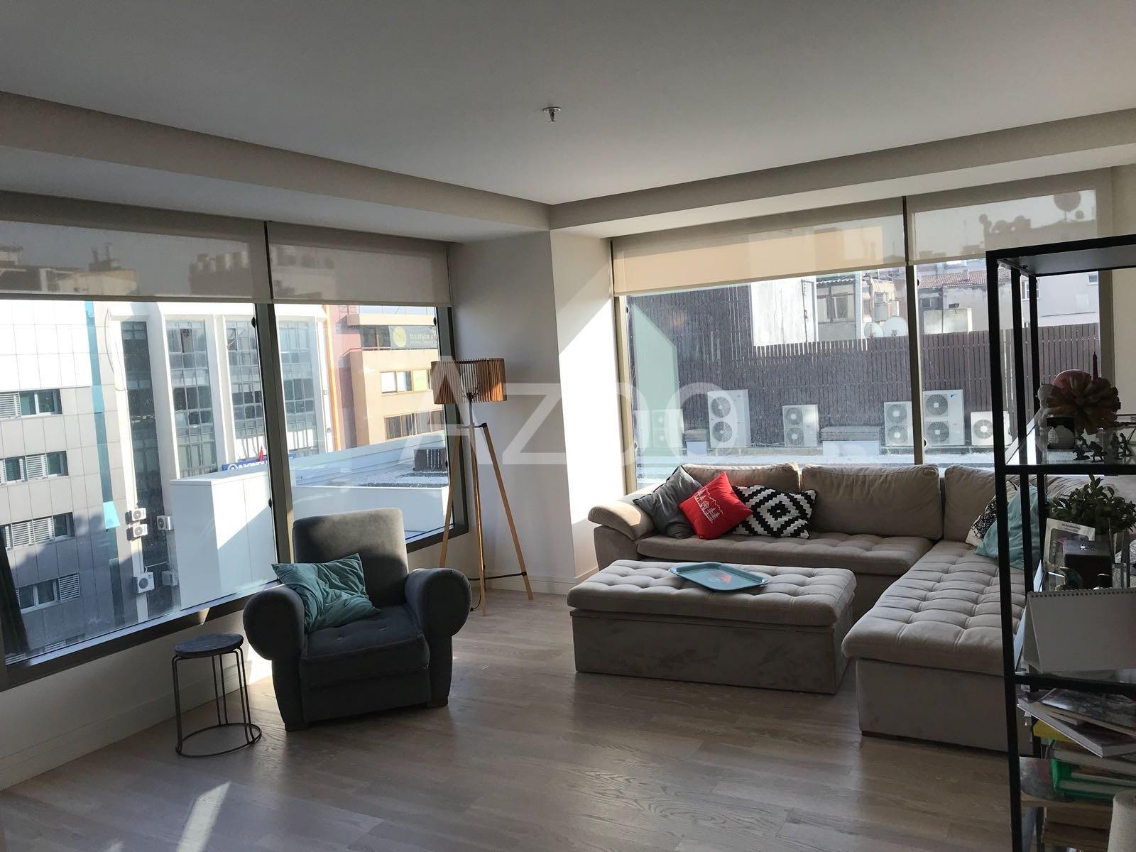 Трёхкомнатная квартира с мебелью в Измире - Фото 2