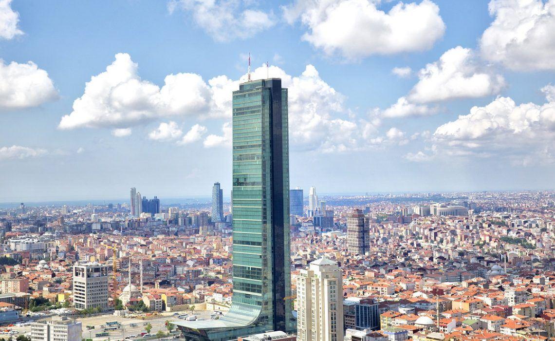 Элитная квартира в  высоком небоскребе Стамбула - Фото 1