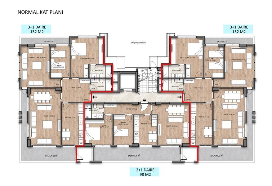 Квартиры в строящемся жилом комплексе район Оба - Фото 40
