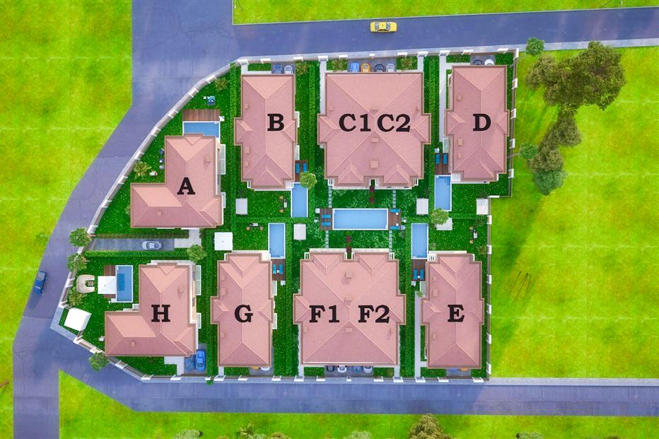 Элитные виллы 7+1 в строящемся жилом комплексе Антальи - Фото 18