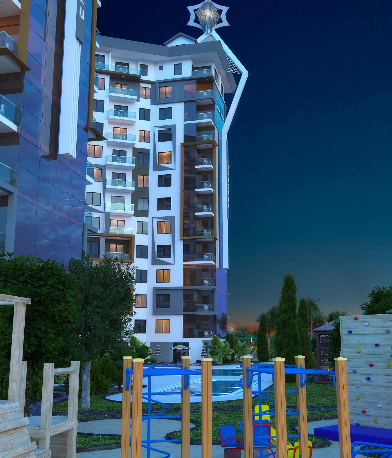 Квартиры и пентхаусы в комплексе с богатой инфраструктурой район Махмутлар - Фото 15