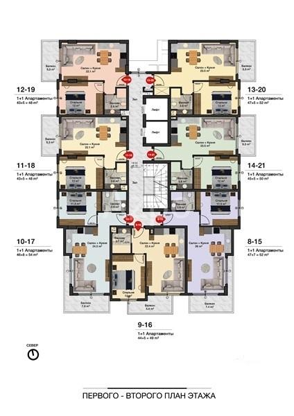 Новые квартиры разных планировок в центре Алании - Фото 9