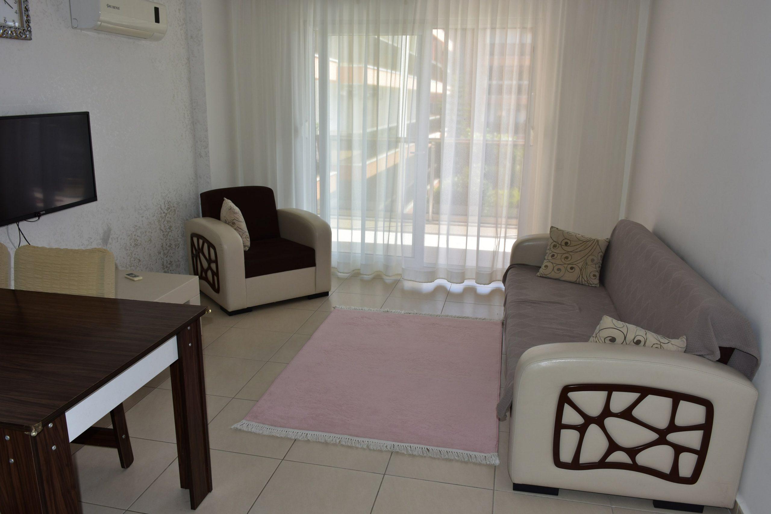 Двухкомнатная квартира с мебелью в посёлке Авсаллар - Фото 12