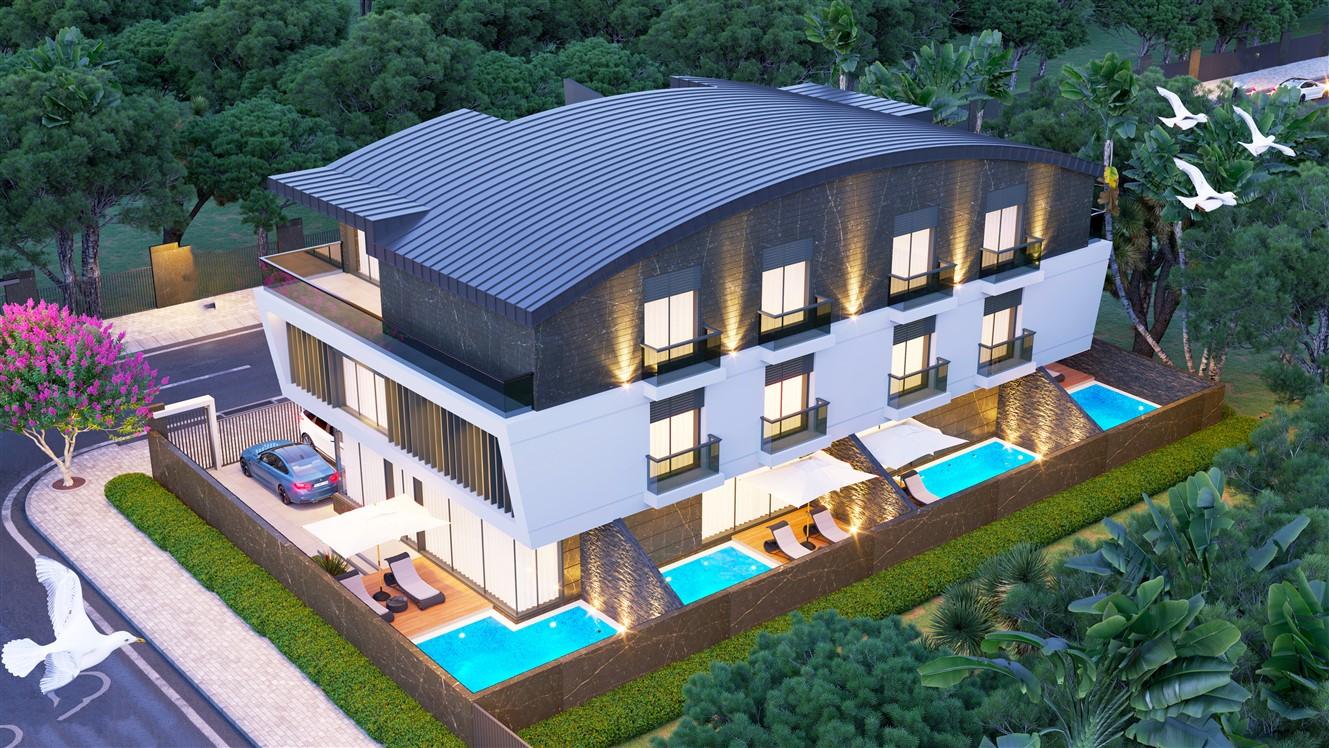 Инвестиционный проект вилл 3+1 и 5+1 в Гюзельоба Лара Анталия