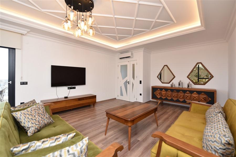 Роскошная меблированная квартира 3+1 в центральном районе Аланьи - Фото 13