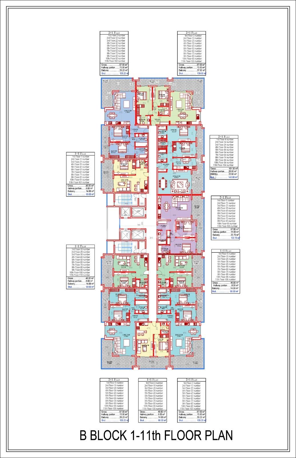 Квартиры всех типов планировок в Махмутларе - Фото 18