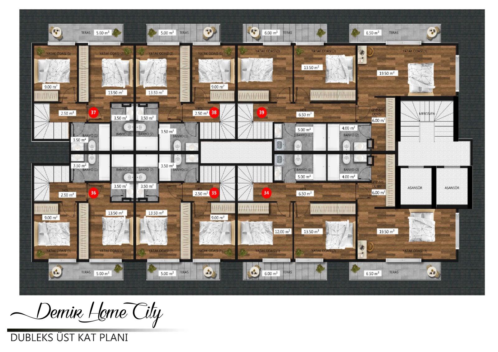 Новые квартиры в центральном районе Аланьи - Фото 18