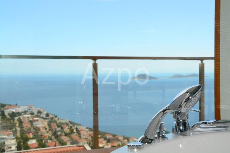 Меблированная вилла 5+1 с видом на море в городе Калкан - Фото 19