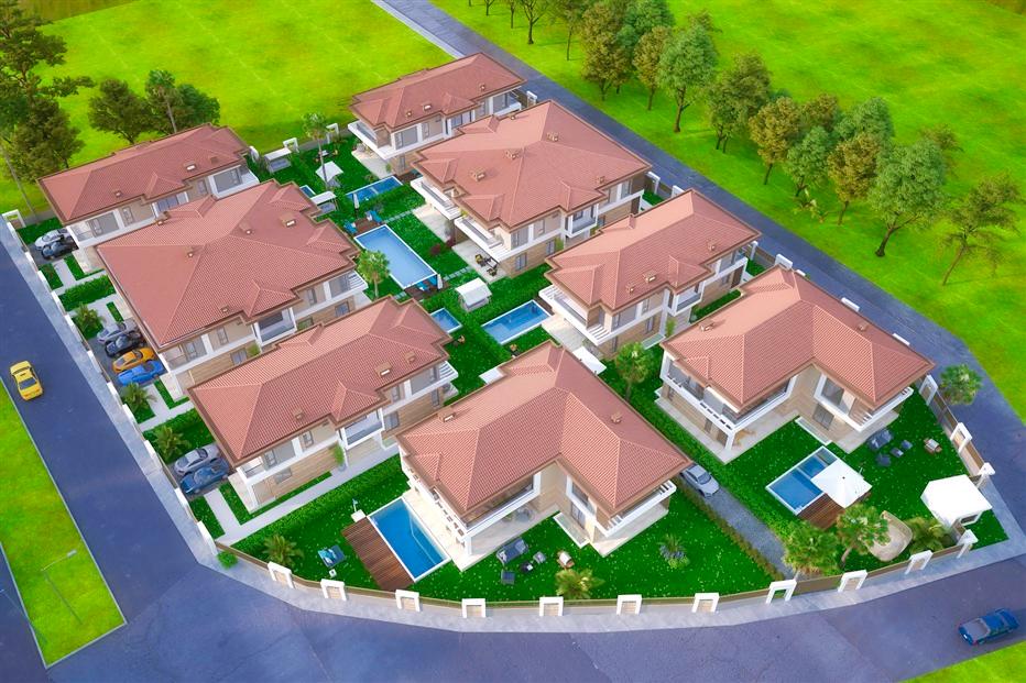 Элитные виллы 7+1 в строящемся жилом комплексе Антальи - Фото 1