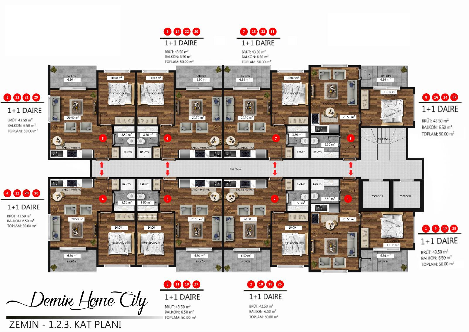 Новые квартиры в центральном районе Аланьи - Фото 19
