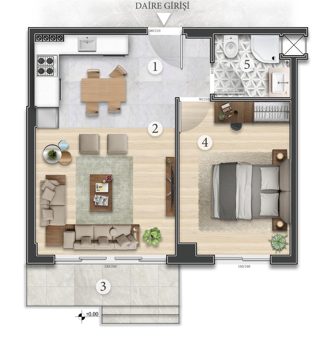 Квартиры в строящемся жилом комплексе в микрорайоне Алтынташ - Фото 10