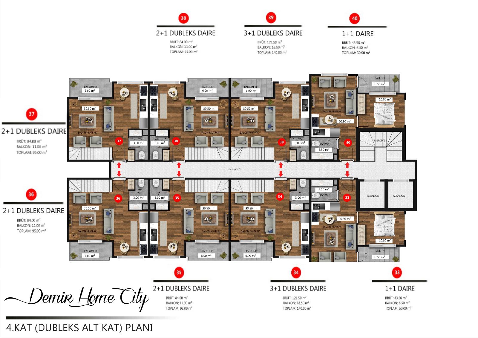 Новые квартиры в центральном районе Аланьи - Фото 17