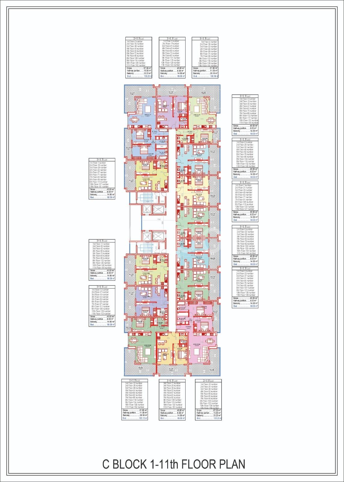 Квартиры всех типов планировок в Махмутларе - Фото 24