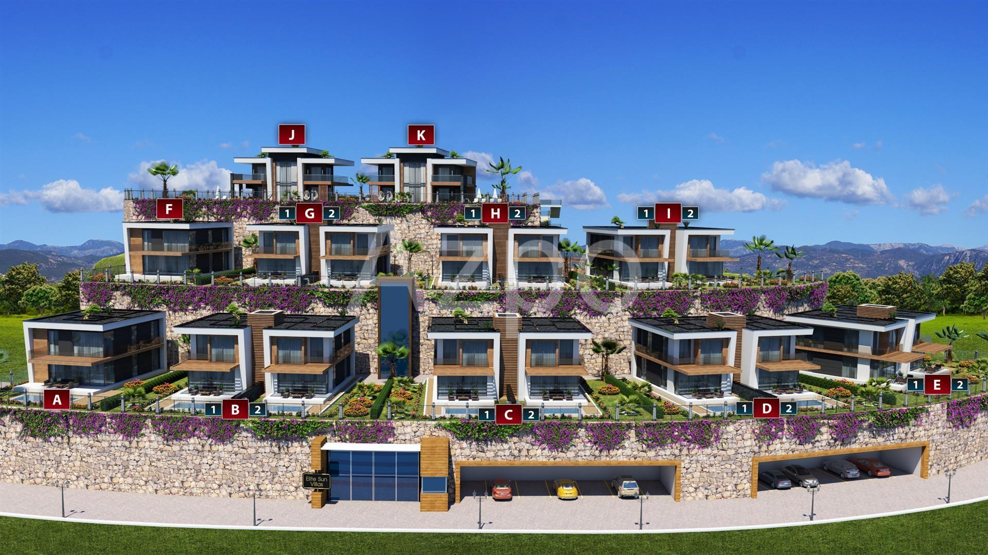 Новый проект шикарных вилл в Конаклы у моря - Фото 2