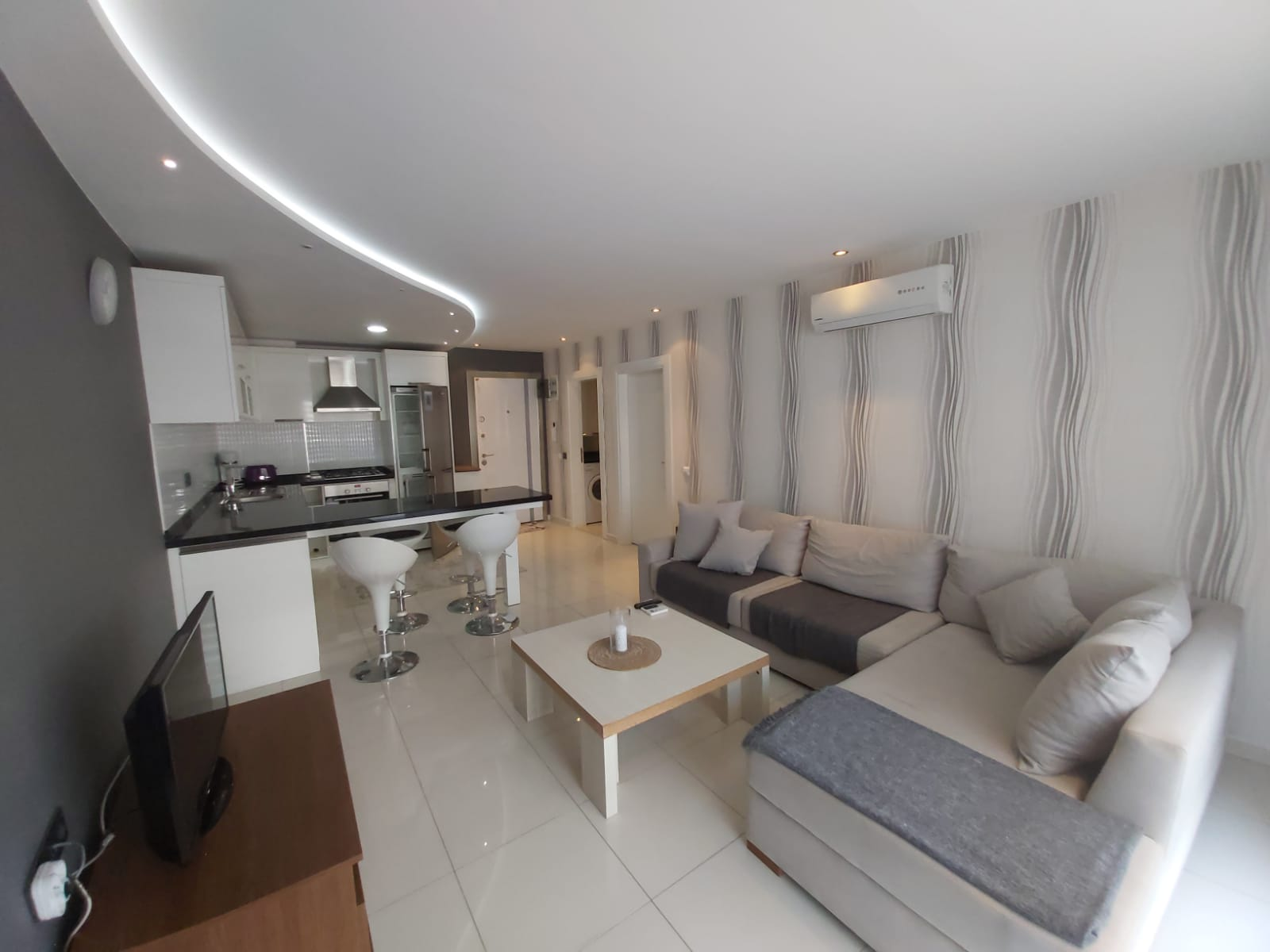 Двухкомнатная квартира с мебелью в районе пляжа Клеопатры - Фото 7