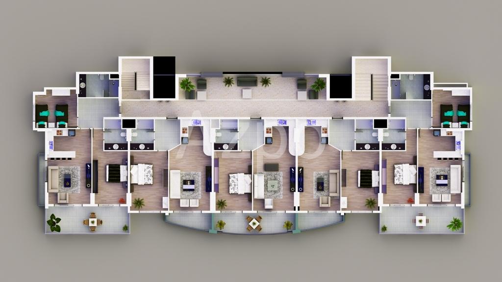 Апартаменты от застройщика в Махмутларе - Фото 23
