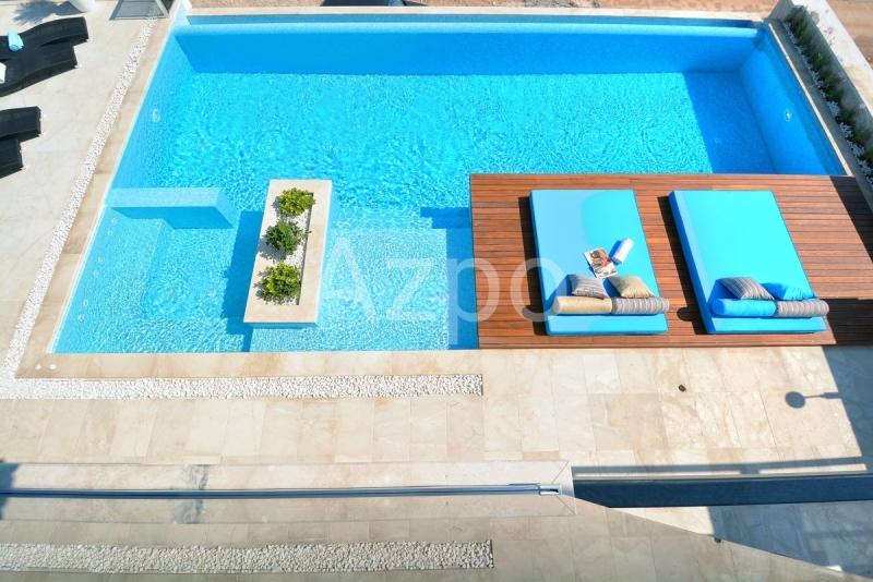 Меблированная вилла 4+1 с видом на море в городе Калкан - Фото 2