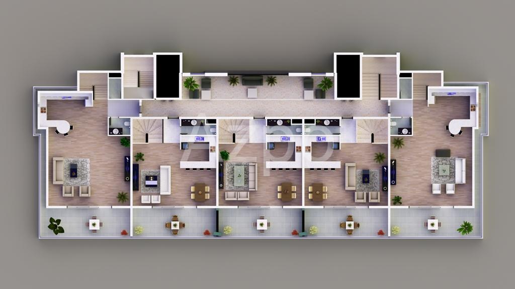 Апартаменты от застройщика в Махмутларе - Фото 22