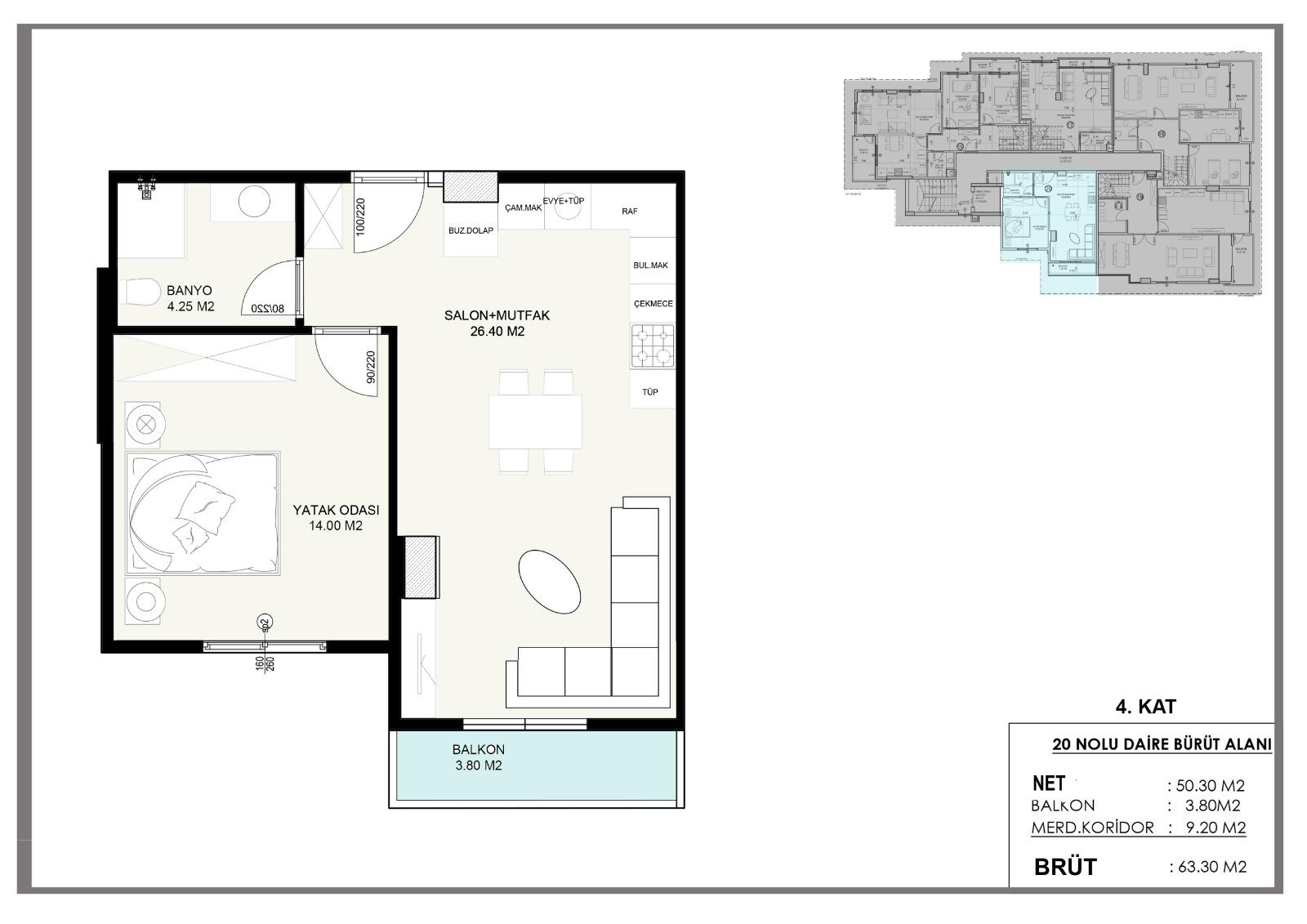 Новые квартиры в центральном районе Аланьи - Фото 13