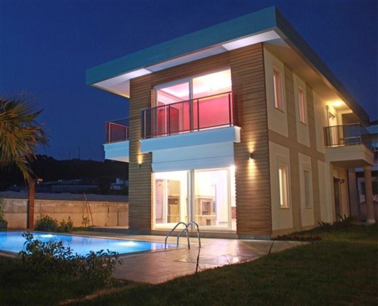 Двухэтажная вилла 4+1 с бассейном на берегу средиземного моря - Фото 18