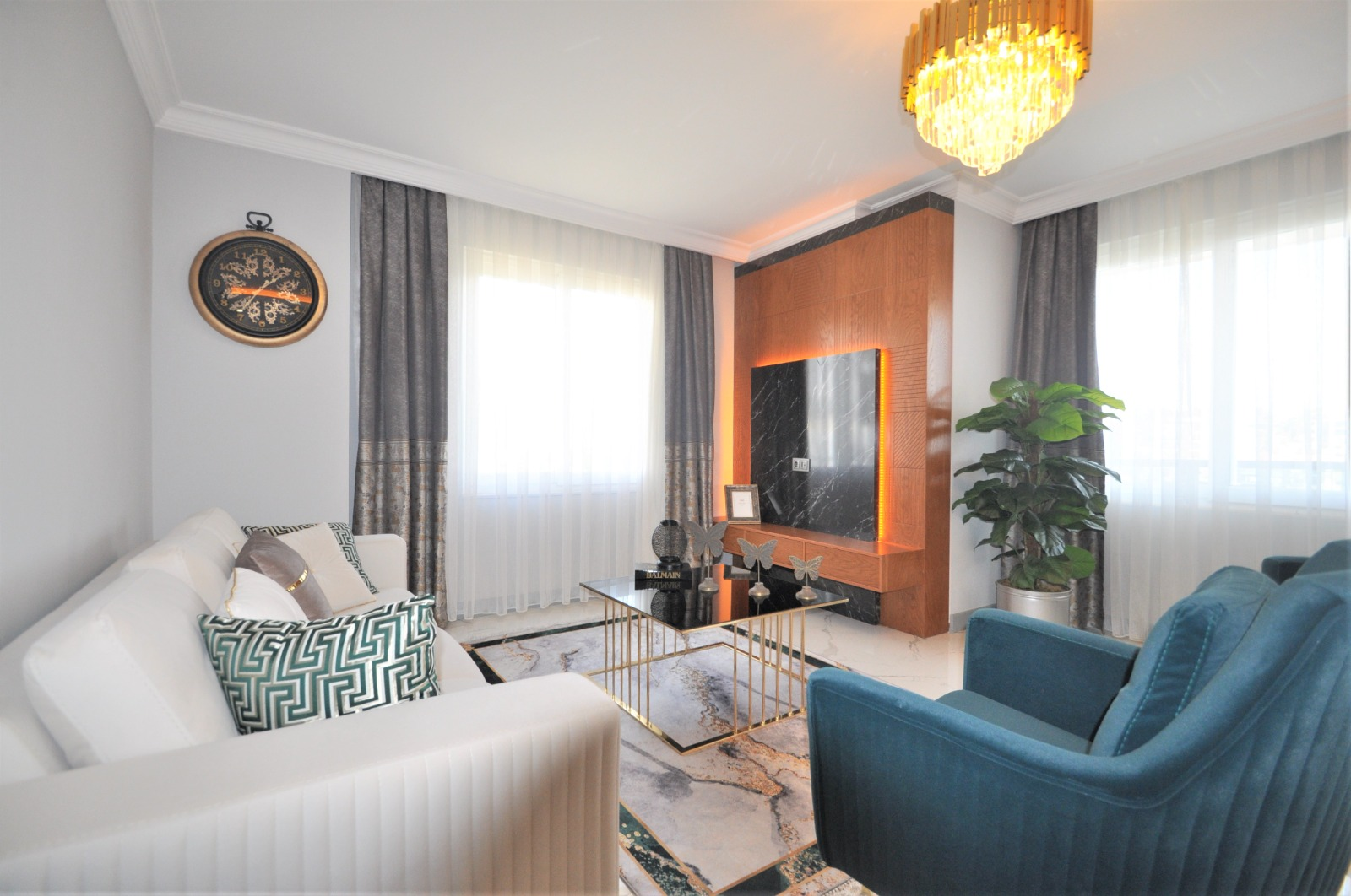 Просторная трёхкомнатная квартира с мебелью в Тосмуре - Фото 12