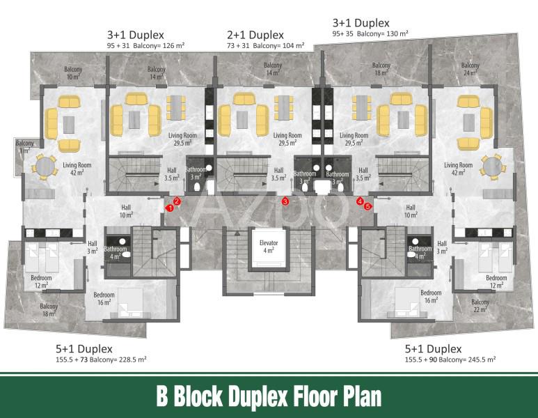 Квартиры и пентхаусы в новом комплексе Оба - Фото 20