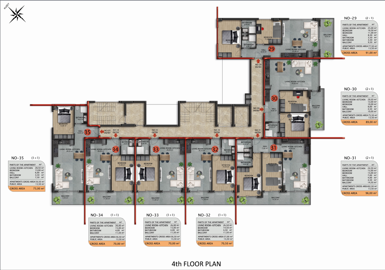 Квартиры и пентхаусы в строящемся комплексе - Фото 46