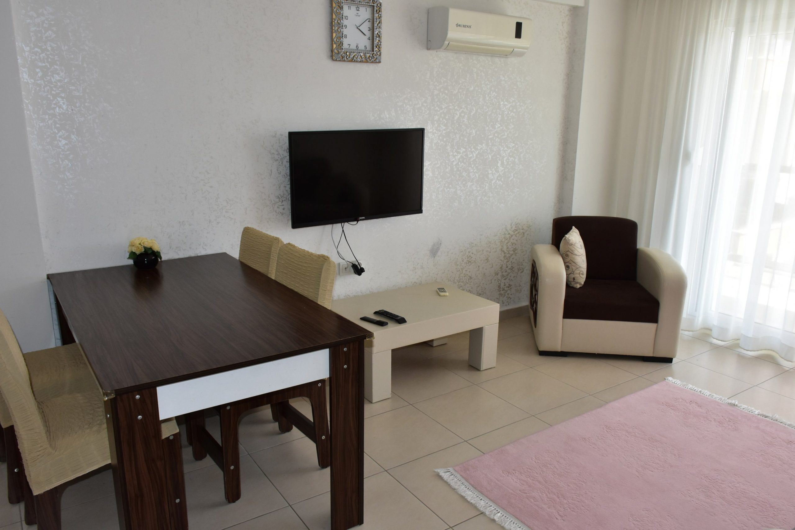 Двухкомнатная квартира с мебелью в посёлке Авсаллар - Фото 13