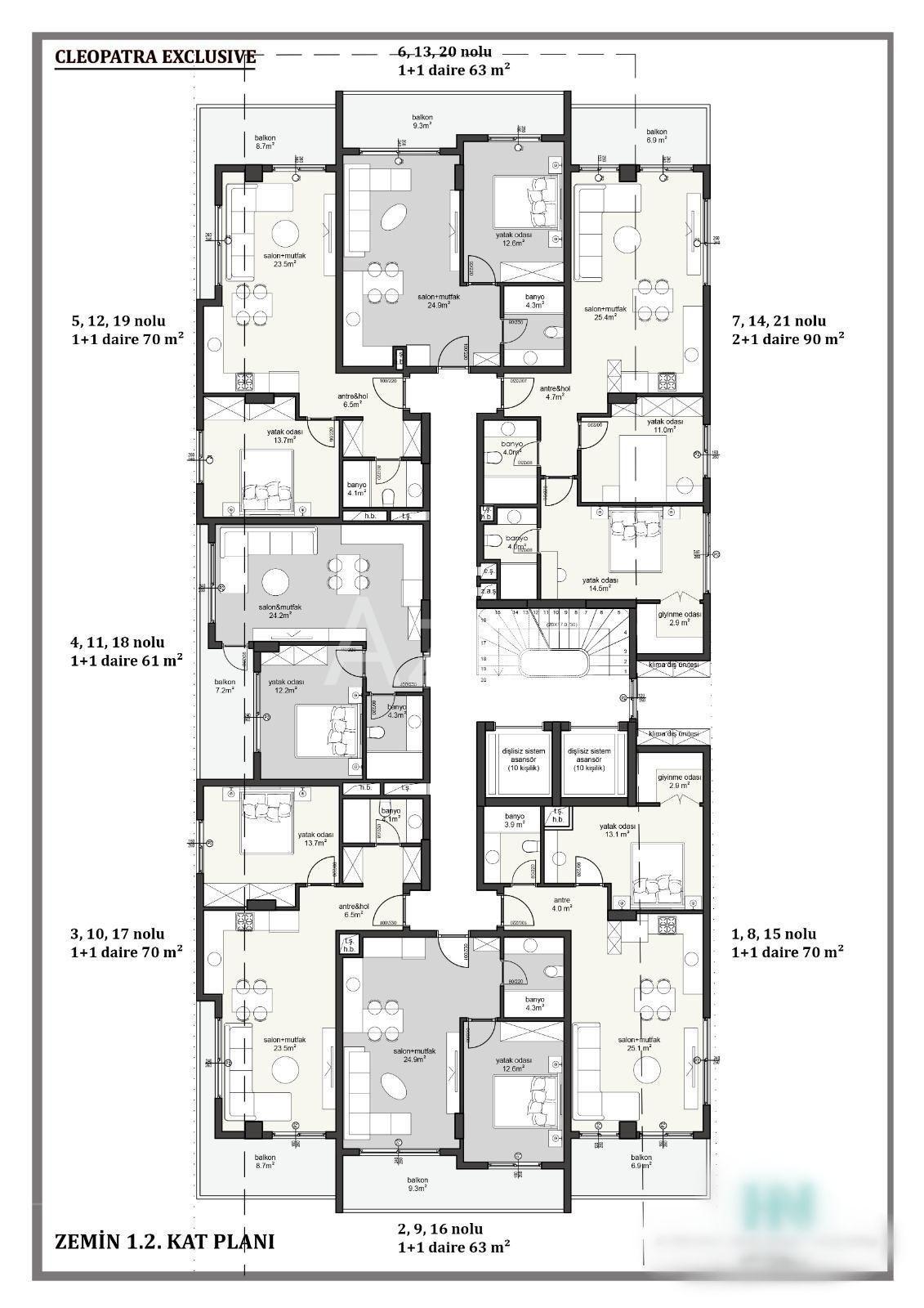 Квартира 1+1 в комплексе от известной компании - Фото 11