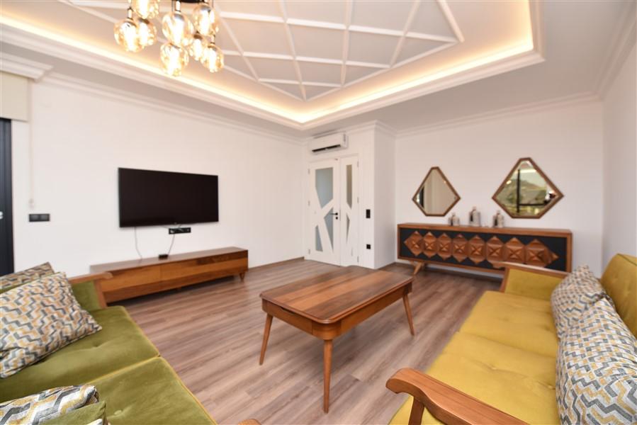 Роскошная меблированная квартира 3+1 в центральном районе Аланьи - Фото 12