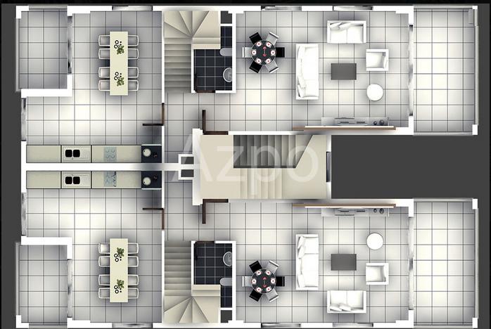 Трёхкомнатные квартиры в Кумкёй (Сиде) - Фото 16