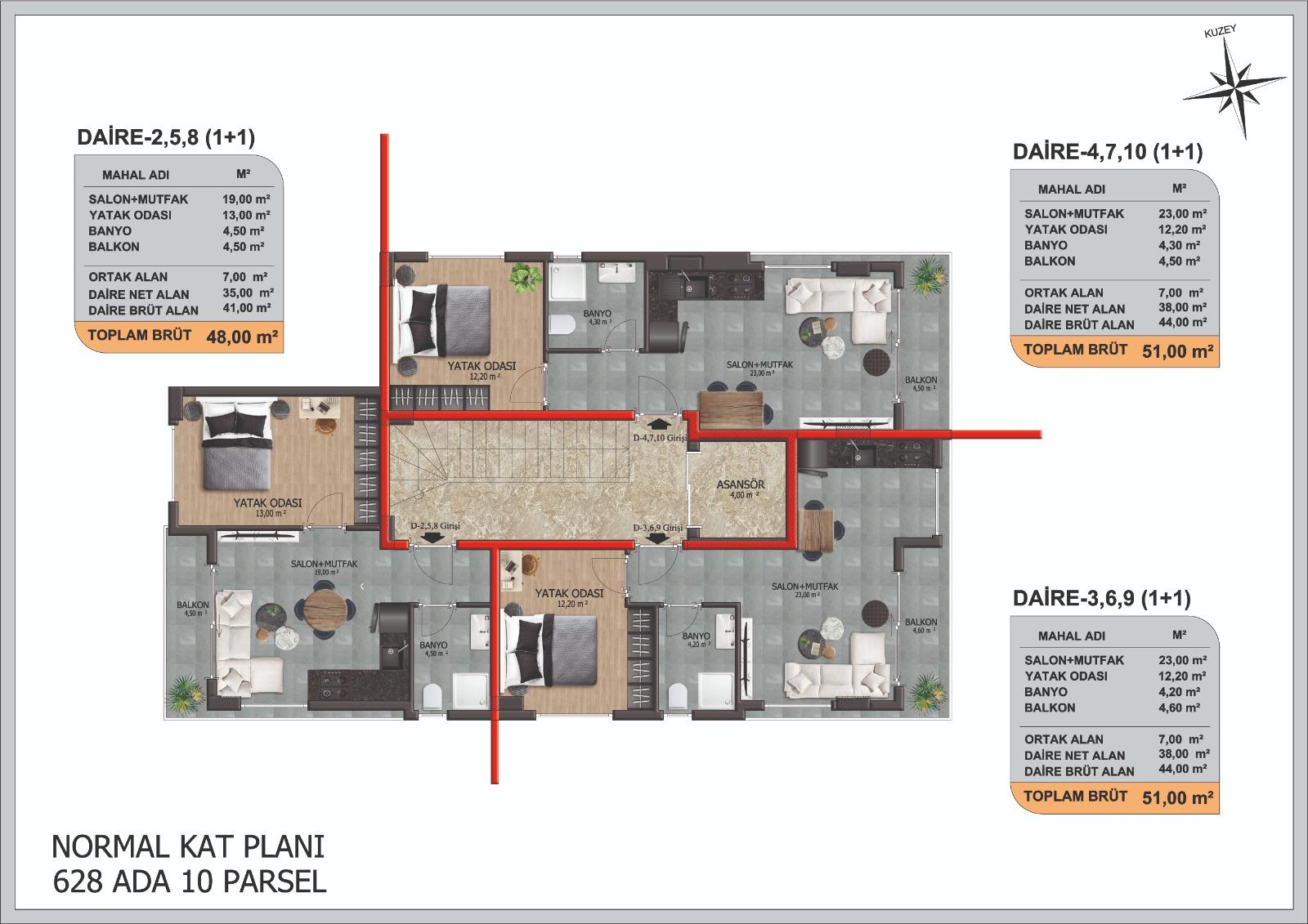 Трёхкомнатные квартиры в центре Аланьи - Фото 15