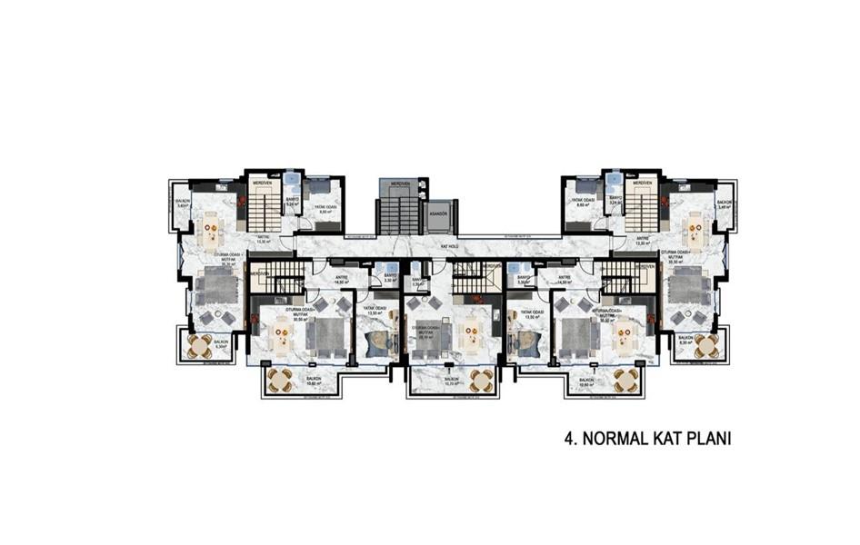 Жилой комплекс на этапе строительства в районе Кестель - Фото 27