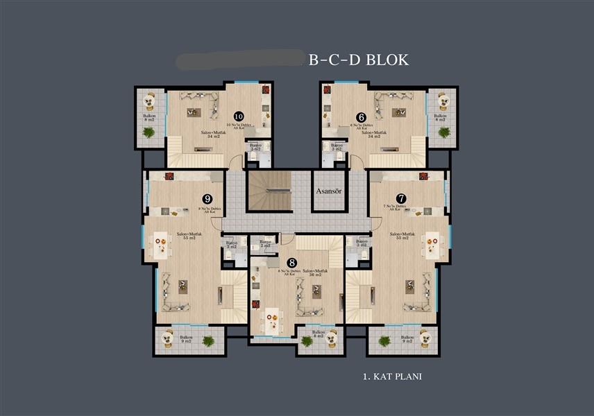 Современные квартиры в строящемся жилом комплексе - Фото 40
