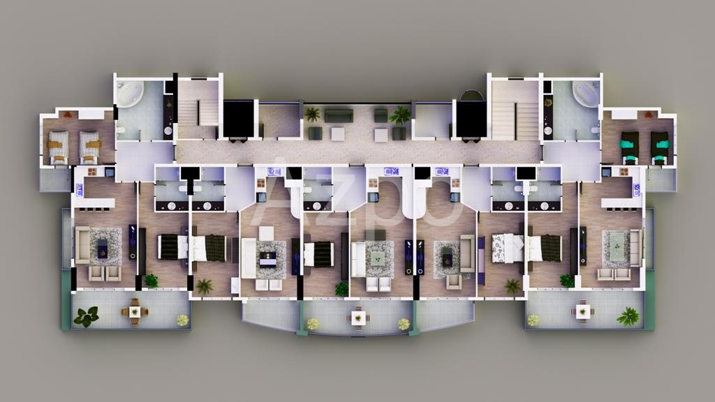 Апартаменты от застройщика в Махмутларе - Фото 24