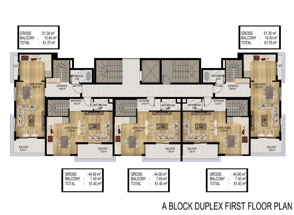 Квартиры в строящемся элитном комплексе в районе Каргыджак - Фото 27